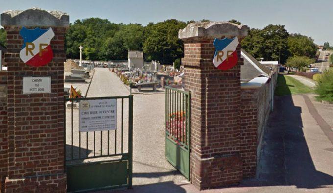 Cimetière du Centre à Saint-Etienne-du-Rouvray (Seine-Maritime).