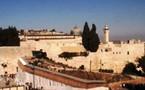 Jérusalem: travaux de l'Esplanade suspendus