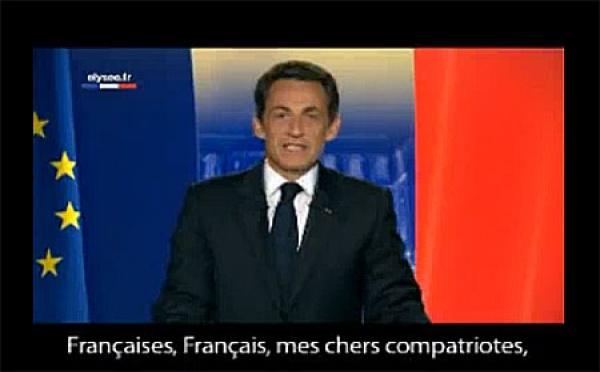 Vœux 2010 de Nicolas Sarkozy : « Évitons les mots qui blessent »
