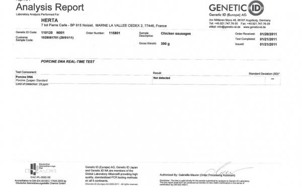 ADN de porc : Herta communique ses résultats d'analyse et continue sa production halal