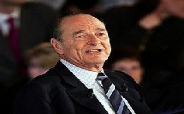 Jacques Chirac en visite en Arabie saoudite