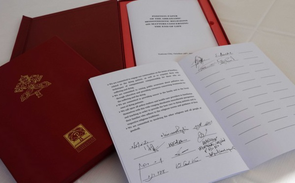 Des représentants des religions abrahamiques ensemble contre l'euthanasie au Vatican