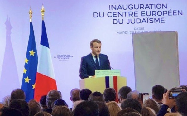 A l'inauguration du Centre européen du judaïsme, Macron rappelle le sens de la laïcité