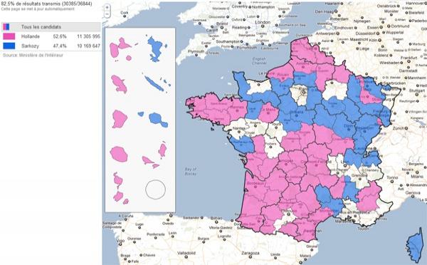 Présidentielle 2012 : les résultats du 2nd tour