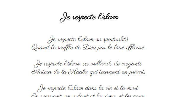 Je respecte l'islam