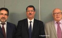 De gauche à droite : Taoufiq Sebti, vice-président ; Anouar Kbibech, président ; Abdallah Zekri, secrétaire général. © Saphirnews