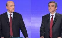 Alain Juppé et François Fillon, les deux finalistes de la primaire de la droite. © AFP