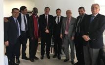 Emmanuel Macron à la rencontre, mercredi 19 avril, d'une délégation du CFCM dans le cadre de l'élection présidentielle.