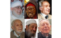 Plusieurs figures de l'islam et du dialogue interreligieux ont rendu l'âme en 2017. En haut, de g. à dr., Cheikh Hamza al-Boutchichi et Cheikh Tidiane Sy dit al-Makhtoum, deux leaders de confréries marocaines et sénégalaises ; l'islamologue Ali Merad. En bas, le spécialiste du Coran Maurice Gloton ; Abd al-Wahid Pallavicini et père Maurice Borrmans, figures du dialogue interreligieux. © Saphirnews.com / DR