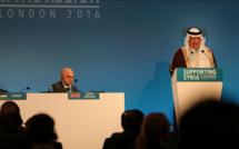 Ibrahim Al-Assaf, ministre des Finances de l'Arabie Saoudite, à la conférence « Supporting Syria and the Region », qui s'est tenue à Londres, en février 2016 et a permis de lever 11 milliards de dollars d'aide humanitaire pour la Syrie. (Photo : Adam Brown/Crown)