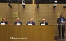 Le 21 septembre, le Conseil français du culte musulman (CFCM) a organisé un colloque pour annoncer la création de l'Association pour le financement et le soutien au culte musulman (AFSCM). Il a également fait part de son projet de réforme en vue des élections pour le renouvellement de l'instance prévues pour juin 2019. Ici (de g. à dr.), la première table ronde a convié : Frédéric Lallier, responsable du pôle Islam au sein du bureau central des cultes du ministère de l'Intérieur ; André Reichardt, sénateur du Bas-Rhin ; Chems-Eddine Hafiz, vice-président du CFCM ; Abdallah Zekri, président de l'Observatoire national de l'islamophobie. (À dr.) Ahmet Ogras, président du CFCM, a prononcé le discours inaugural.