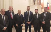 Les responsables du CFCM à la rencontre du ministre de l'Intérieur Christophe Castaner jeudi 22 novembre Place Beauvau. © C-E. Hafiz
