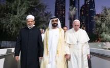 Le pape François s'est rendu aux Emirats arabes unis du 3 au 5 février, une visite historique dans la péninsule arabique durant laquelle le dialogue islamo-chrétien en est sorti renforcé. © Human Fraternity Meeting