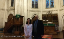 Kahina Bahloul et Faker Korchane (ici à l'image), les porteurs du projet de la mosquée Fatima, ont organisé, samedi 21 septembre, un colloque inaugural à la paroisse Saint-Jean, à Paris.