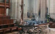 La cathédrale Saint-Pierre de Nantes a été touchée par un important incendie, samedi 18 juillet. © Diocèse de Nantes