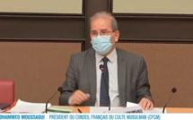 Le président du CFCM, Mohammed Moussaoui, a été auditionné lundi 11 janvier devant la commission parlementaire chargée d'examiner le projet de loi sur le séparatisme. © Capture d'écran LCP