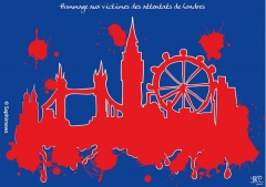 Hommage aux victimes de   Londres